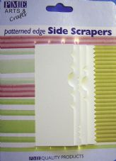 4 Patterned Edge Side Scrapers